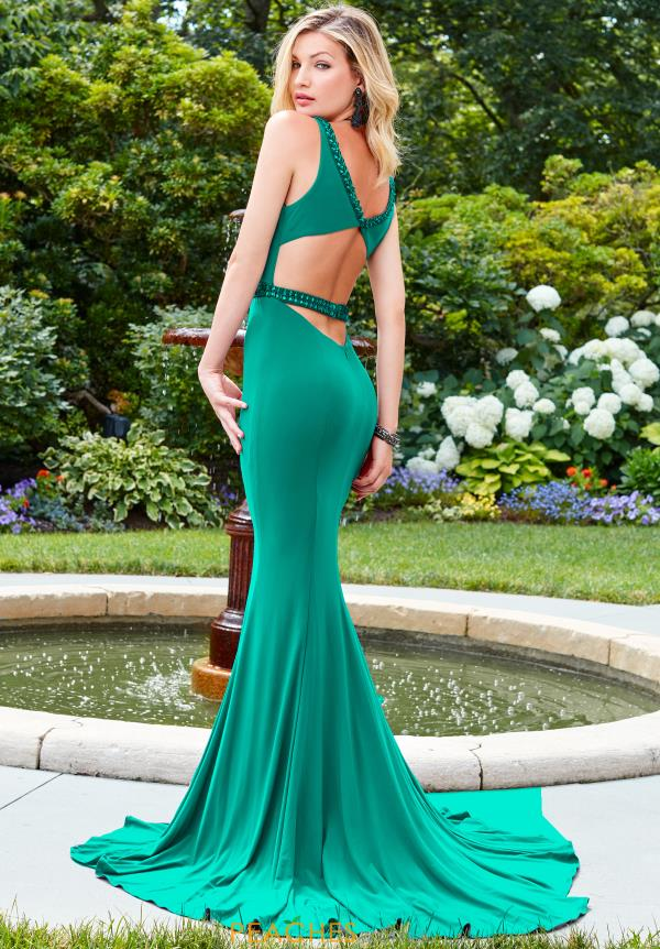 Clarisse Open Back Fitted Dress 3492