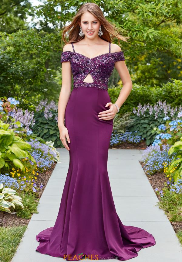 Clarisse Long Fitted Dress 3543