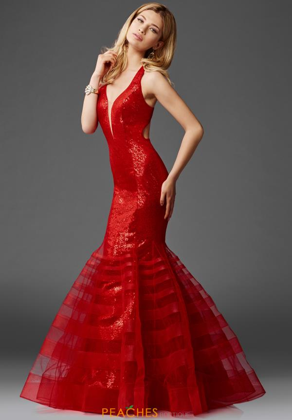 Clarisse Long Red Dress 4951