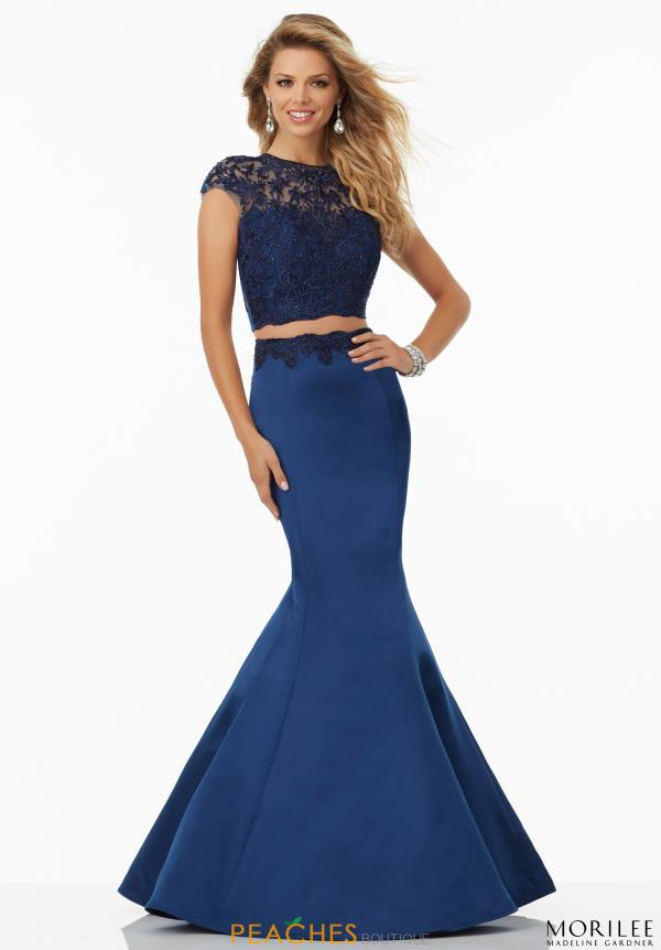 Mori Lee Sleeved Fitted Dress 99080