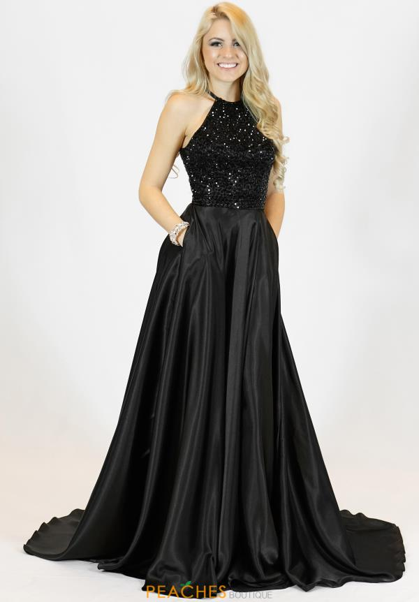 Sherri Hill Beaded Long Dress 51799