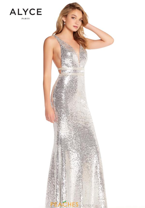Alyce Paris Open Back Sequins Dress 60036