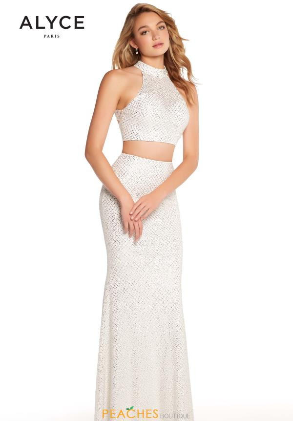 Alyce Paris Two Piece Beaded Dress 60161