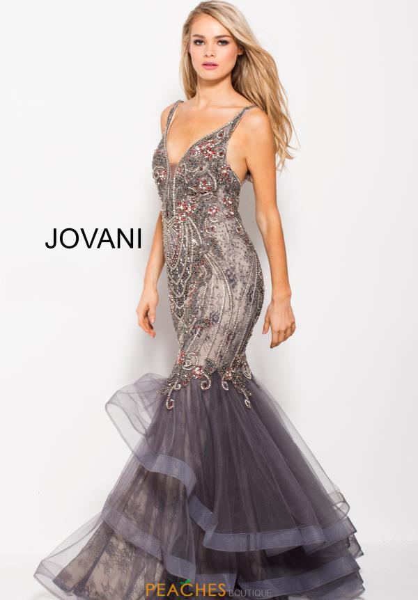 Jovani Long Beaded Dress 55939