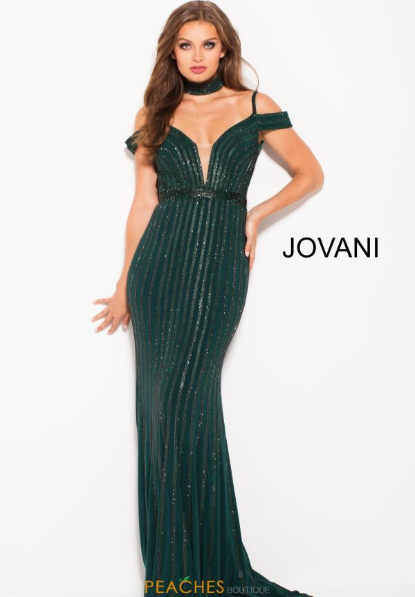 Jovani Cap Sleeved Beaded Dress 56004