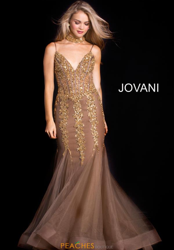 Jovani Long Beaded Dress 56032