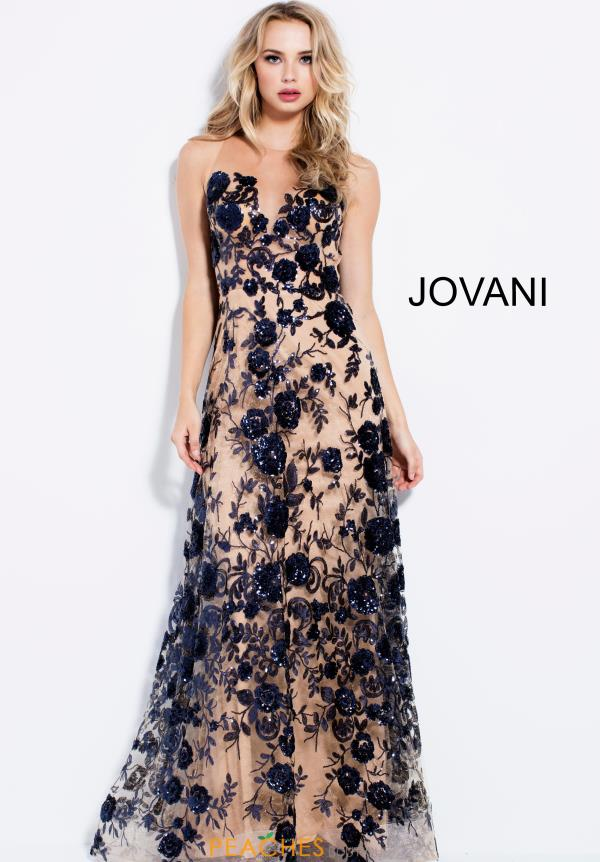 Jovani High Neckline A Line Dress 56046