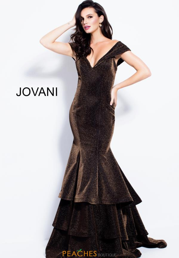 Jovani Cap Sleeved Mermaid Dress 56065