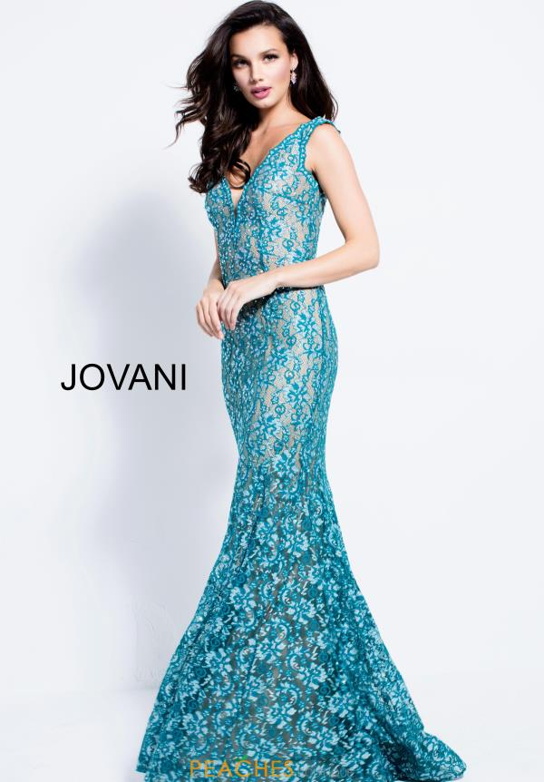 Jovani Long Lace Dress 57046