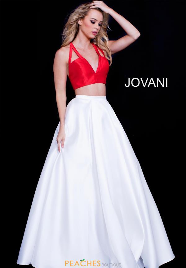 Jovani Two Piece A Line Dress 57207