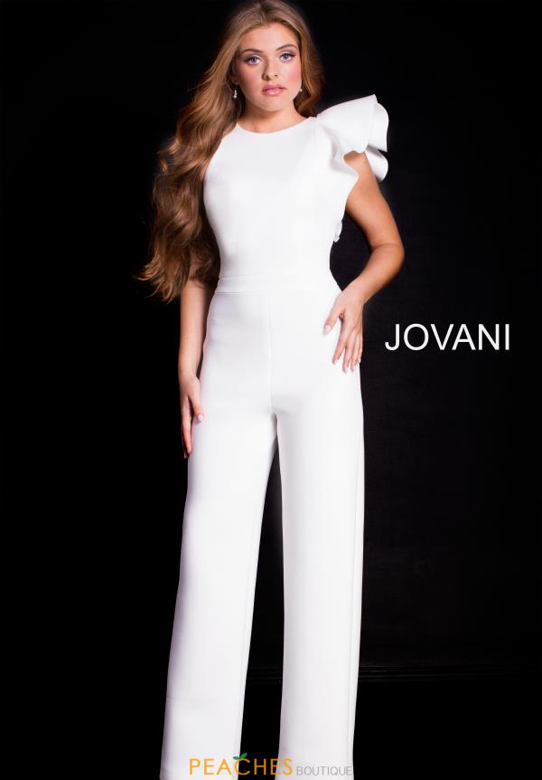 Jovani Sleeved Fitted Jump Suit 57239