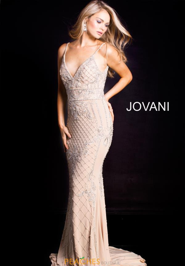 Jovani Long Beaded Dress 57612
