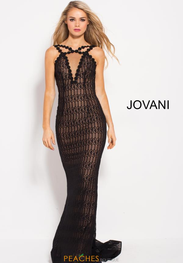 Jovani Long Lace Dress 57815