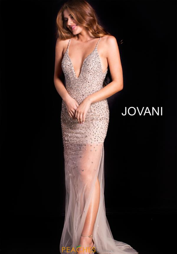 Jovani Long Beaded Dress 58559