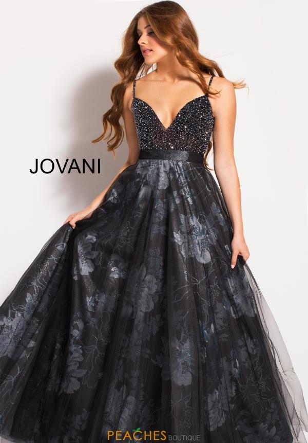 Jovani Black A Line Dress 58601