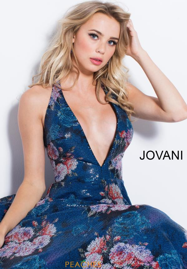 Jovani Long Print Dress 58646