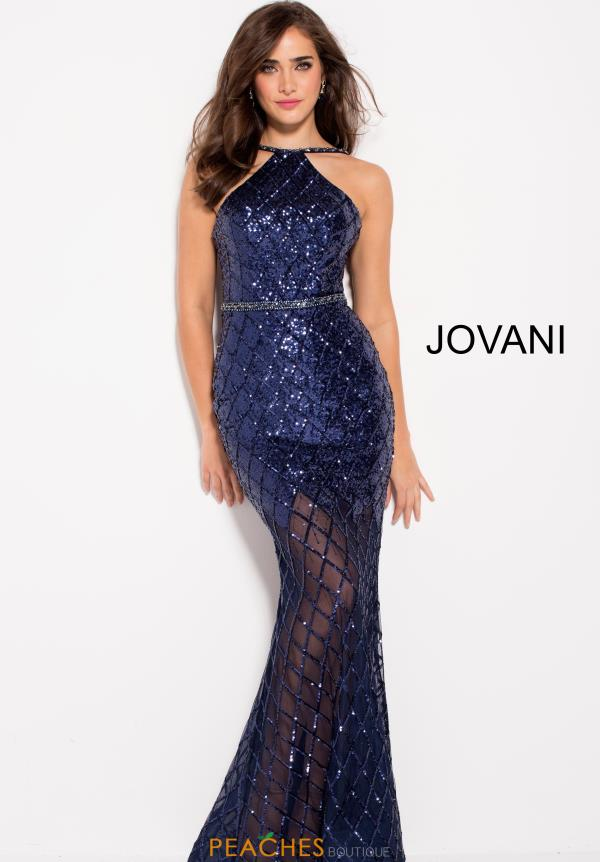 Jovani High Neckline Fitted Dress 59185