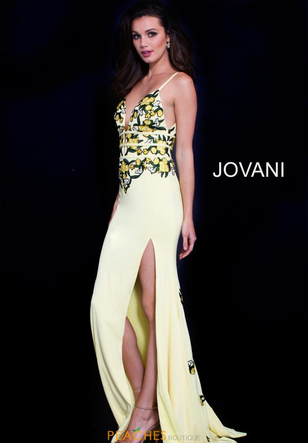 Jovani Long Yellow Dress 59594