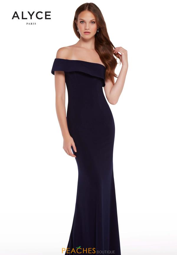Alyce Paris Fitted One Shoulder Dress 59997