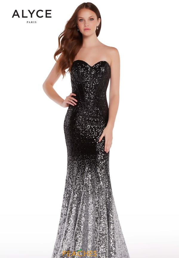 Alyce Paris Sweetheart Sequins Dress 60035