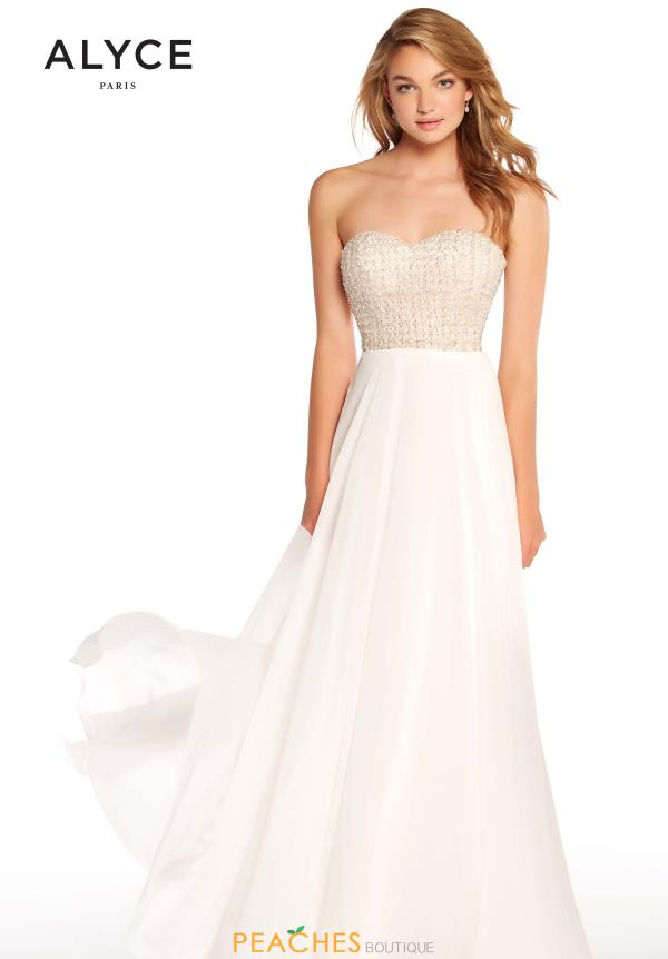 Alyce Paris A Line Beaded Dress 60047