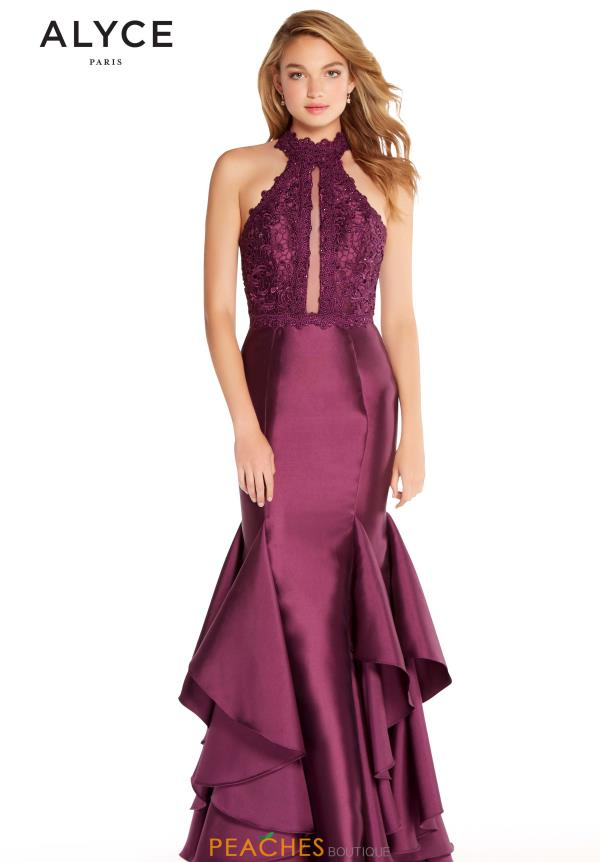 Alyce Paris Halter Mermaid Dress 60058