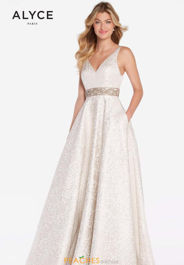 Alyce Paris Full Figured Beaded Dress 60121