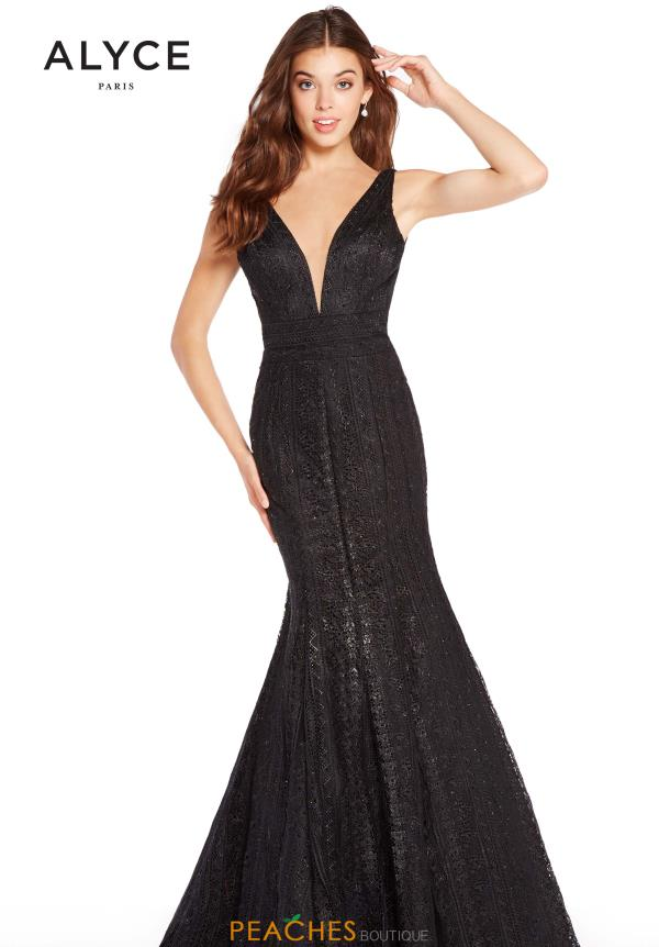 Alyce Paris Mermaid V-Neck Dress 60138