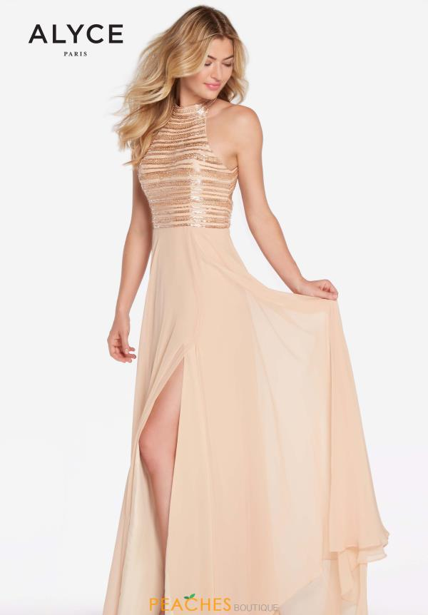 Alyce Paris Beaded A Line Dress 60146