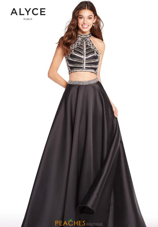 Alyce Paris Halter Two Piece Dress 60195