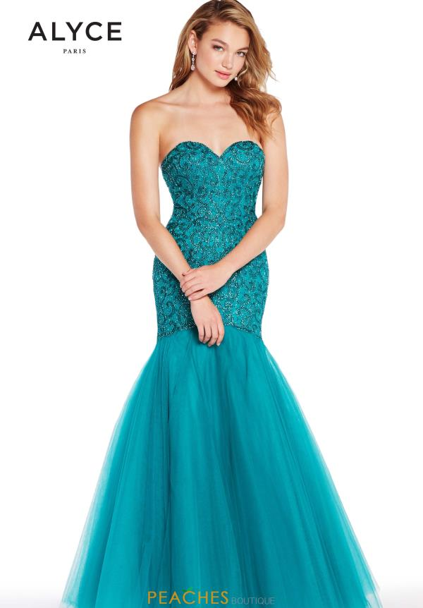 Alyce Paris Sweetheart Beaded Dress 60229