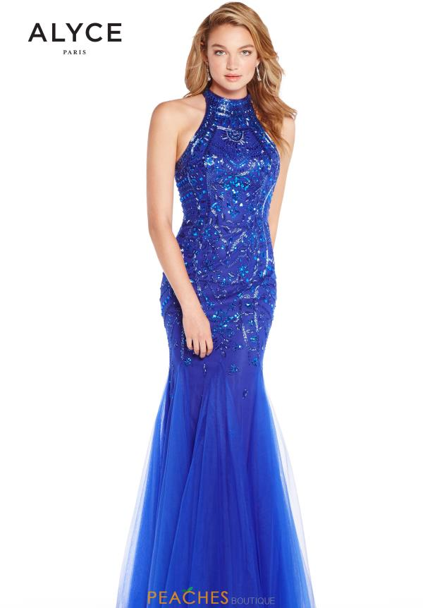 Alyce Paris Fitted Beaded Dress 60230