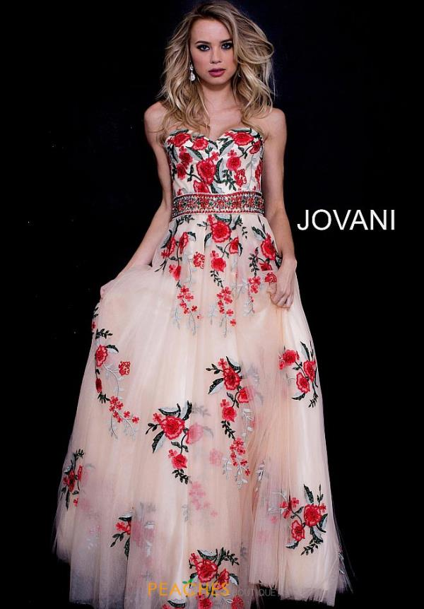 Jovani Long Print Dress 49984