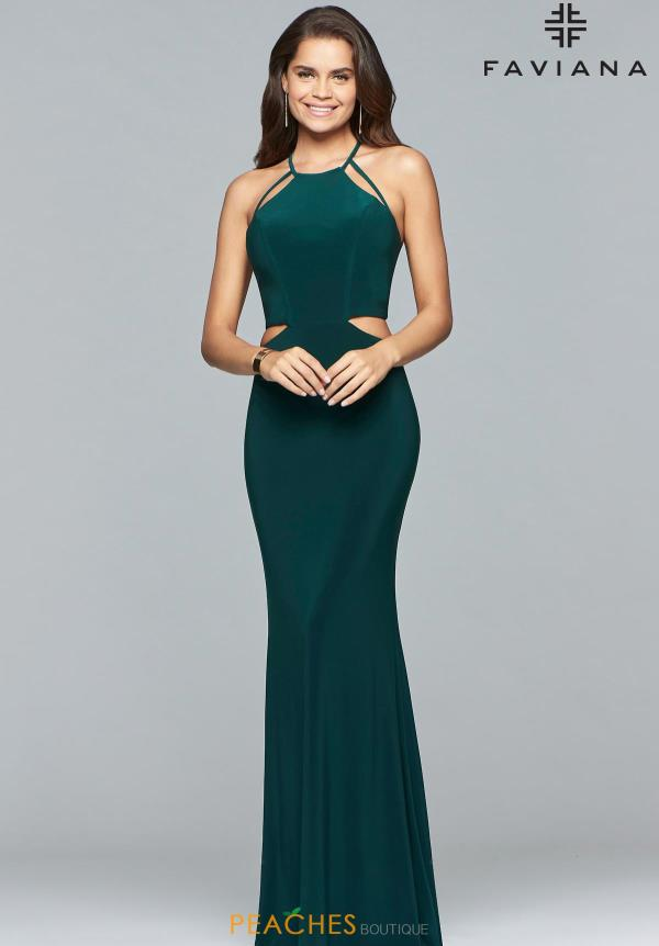 Faviana Halter Fitted Dress 10014