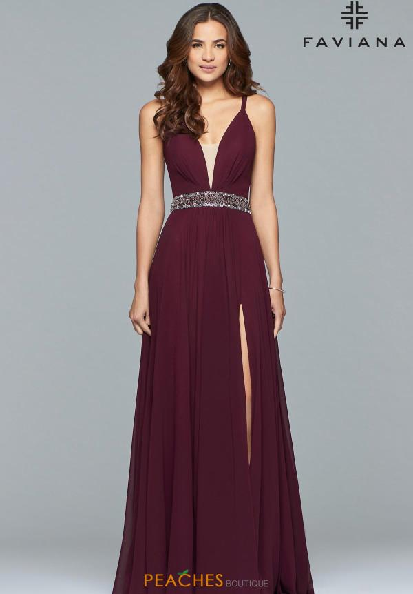 Favianna V-Neck A Line Dress 10039