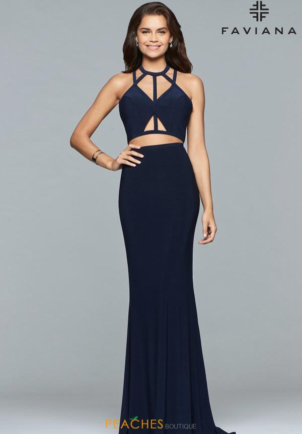 Faviana Sexy Back Fitted Dress 10072