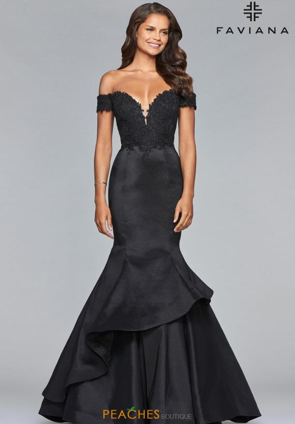 Faviana Off the Shoulder Mermaid Dress 10103