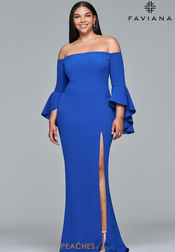 Faviana Off the Shoulder Fitted Dress 9426