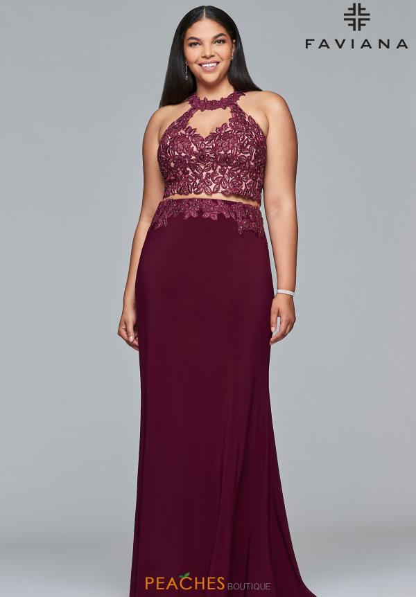 Faviana Applique Fitted Dress 9427
