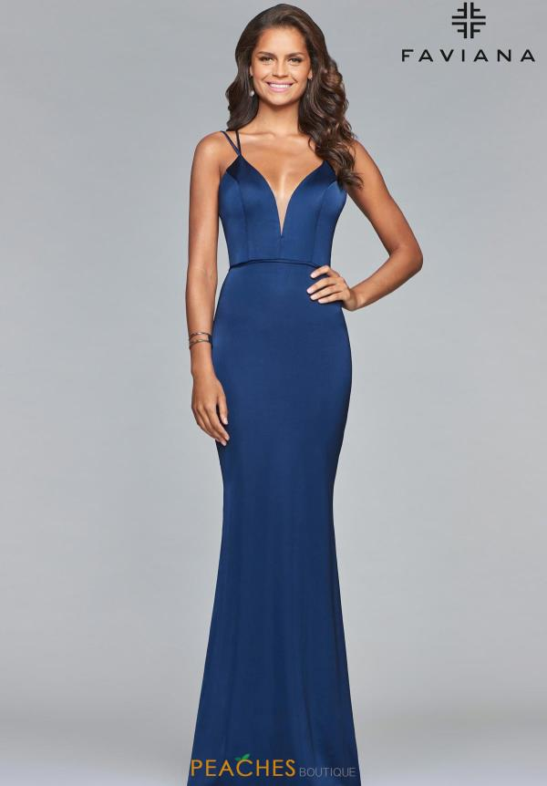 Faviana V-Neck Fitted Dress S10012