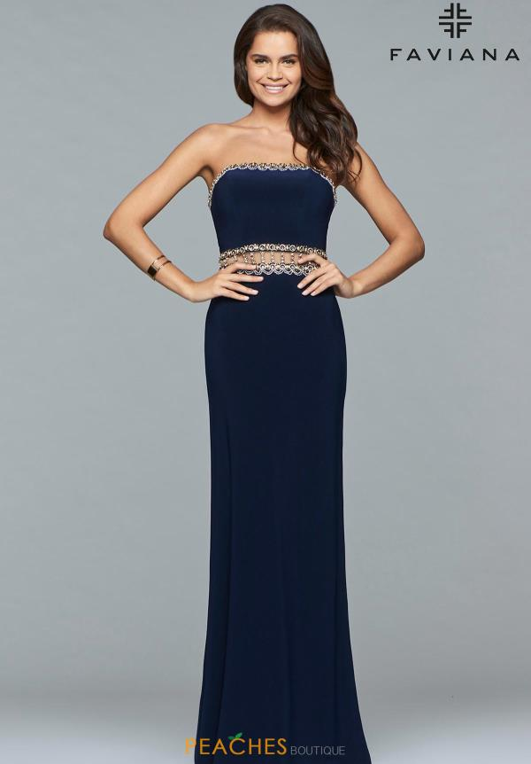 Faviana Strapless Beaded Dress S10027