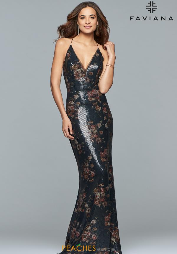 Faviana Sequins Fitted Dress S10048