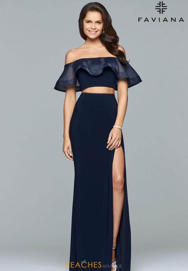Faviana Off the Shoulder Fitted Dress S10070
