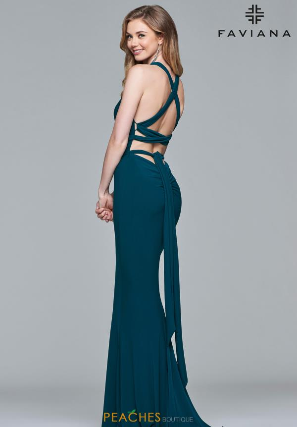 Faviana Sexy Back Fitted Dress S10078