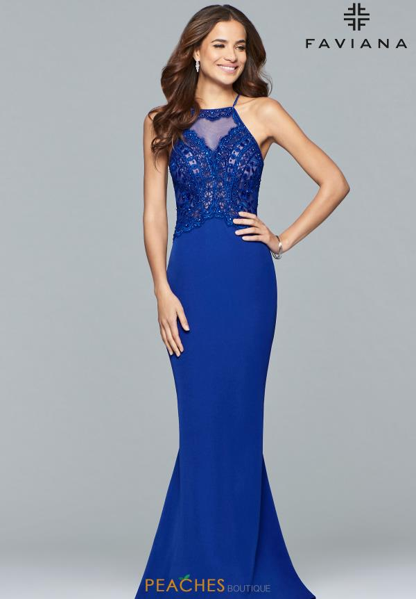 Faviana Fitted Beaded Dress S10098