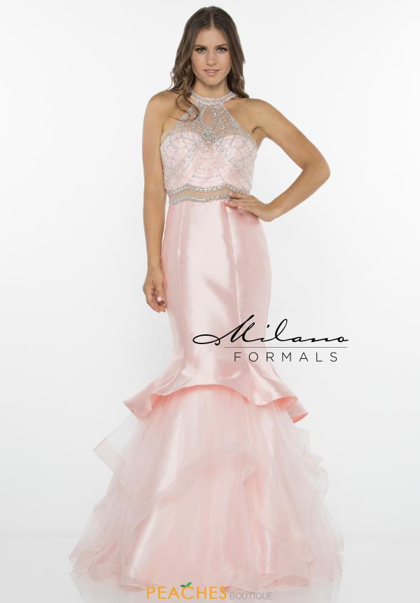 Milano Formals Pink Fitted Dress E2324