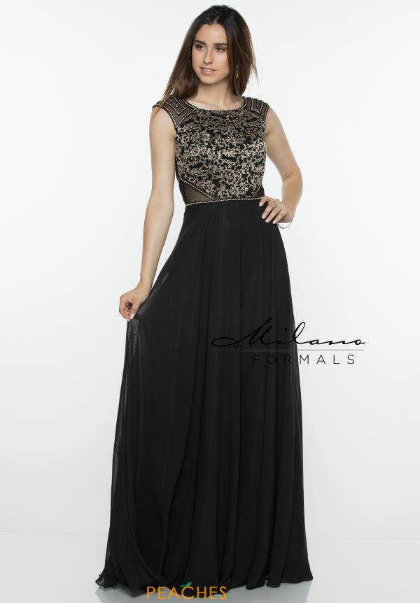 Milano Formals High Neckline Beaded Dress E2385