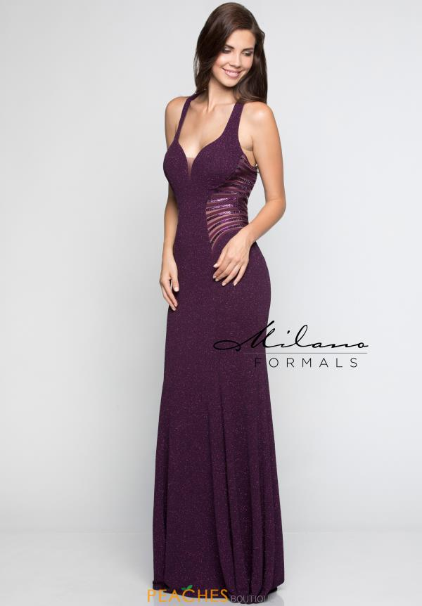 Milano Formals Purple Fitted Dress E2389