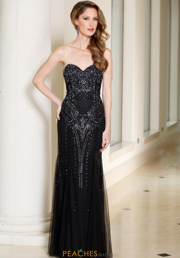 Sean Beaded Long Dress 51051