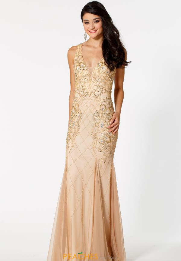 Sean Fitted Long Dress 51064